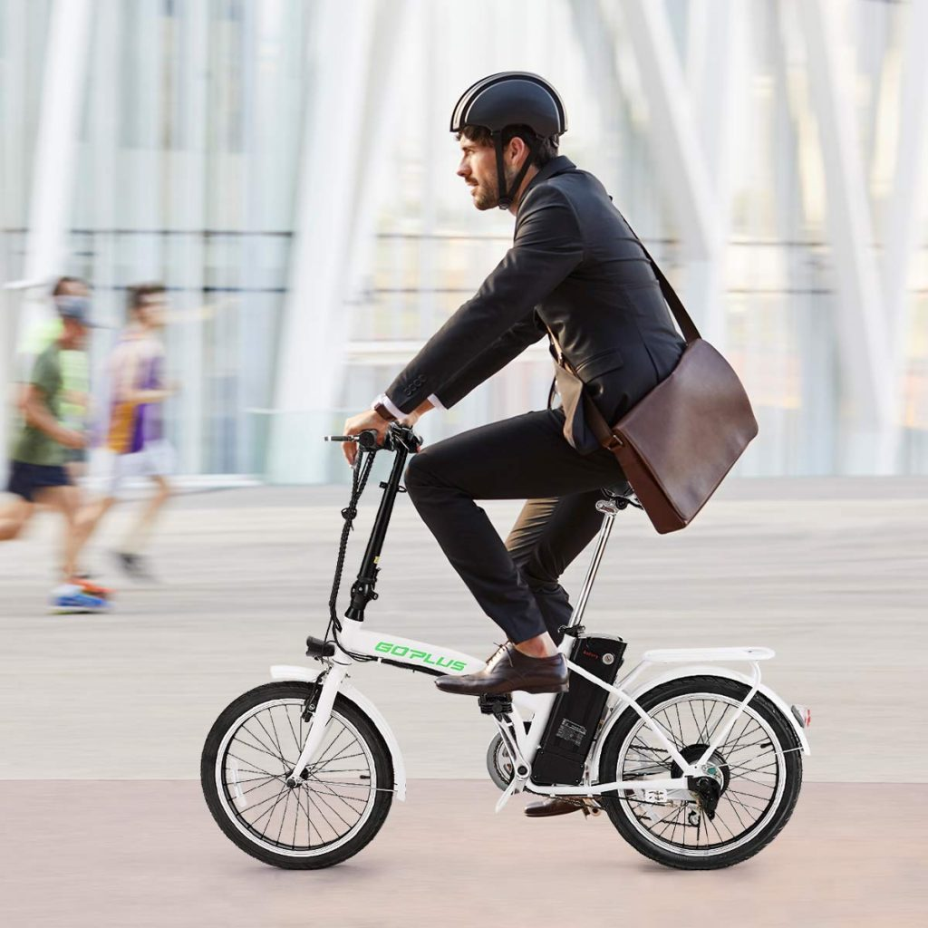 folding mountain bike rider