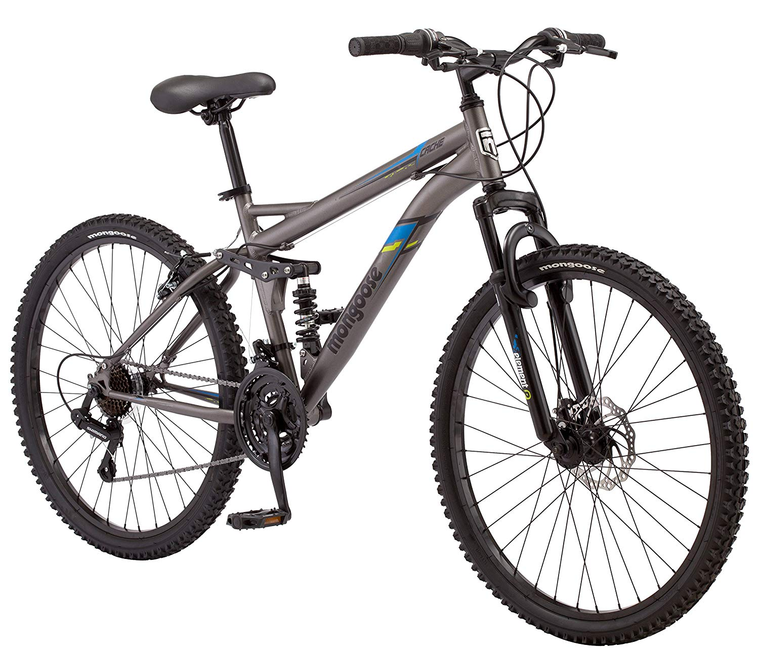 Mongoose 21 Speed Bike Help To Less Your Extra Pedals Free Shipping