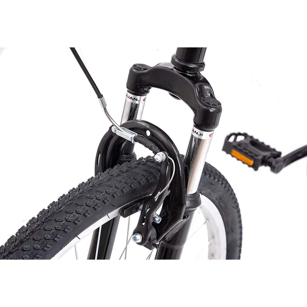 folding mountain bike suspension