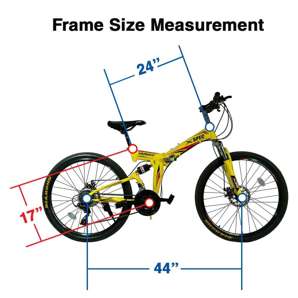 Xspec 26 folding mountain bike frame