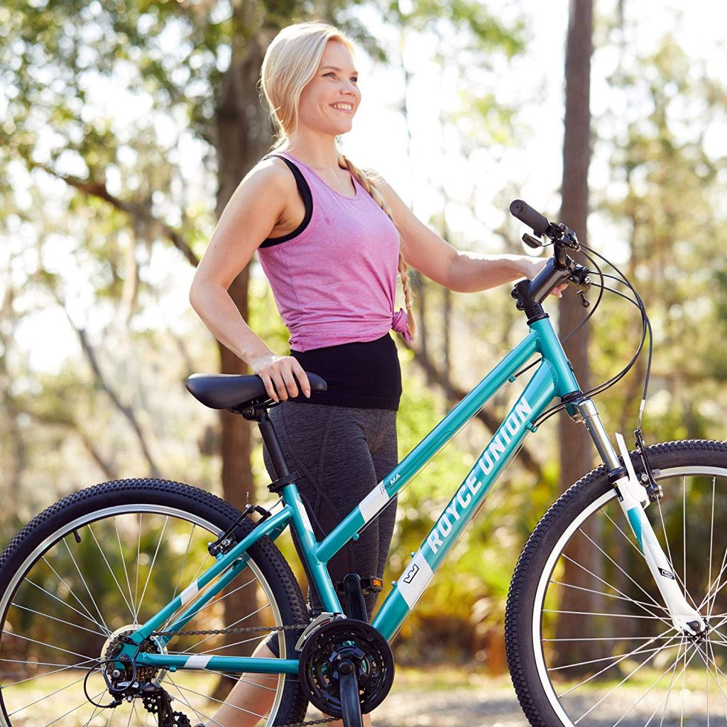 women mountain bike rider