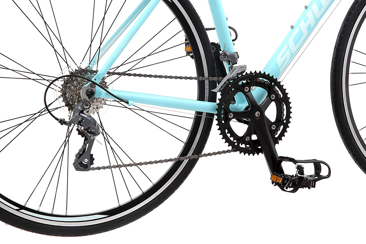 Schwinn women road bike drivetrain