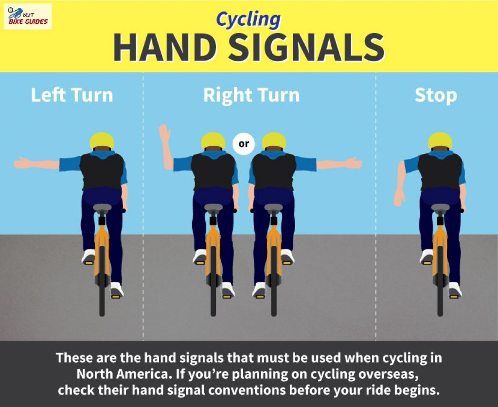 bicycle riding hand signal rule