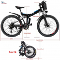 Top 10 Best Foldable Electric Bike | Easy Fold | Stunning Design & Stable Parts | Review 2021